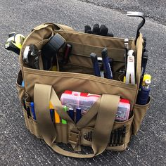 Generous Multifunctional Hardware Mechanics Canvas Tool Bag Electrician Waterproof Utility Tools Kit Multi-pocket Pouch & Waist Belt New Tool Parts