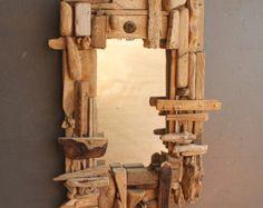 Driftwood Mirror, 120 cm wide x 100 cm high (outside measurement)