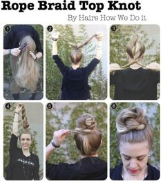 Rope Braid Top Knot Tutorial