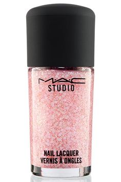 This may seem like pretty-princess territory, but the tiny glitter gives it downtown cred.  MAC Studio Nail Lacquer in Tiara On Top, $12, available at MAC.
