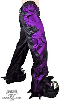 Organic Pants Black/Purple