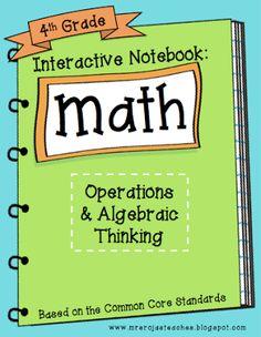 Interactive Math Notebook - Operations and Algebraic Thinking