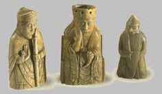 Walrus Ivory Chessmen. The trade connections across the North Atlantic established by the Vikings lasted well into the medieval period. These 13th century ivory chess pieces were carved from Greenlandic walrus ivory by craftsmen in Norway, but were found on the Isle of Lewis, Hebrides, Scotland.