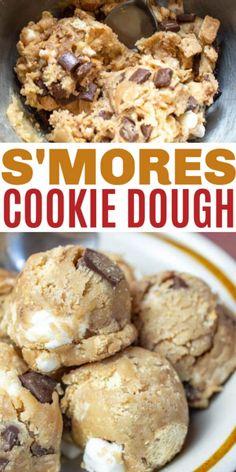 Simple Cookie Dough Recipe, Raw Cookie Dough, Cookie Dough Recipes, Fun Baking Recipes, Sweet Recipes, Cookie Dough For One, Homemade Cookie Dough, Chocolate Cookie Dough, Dessert Recipes