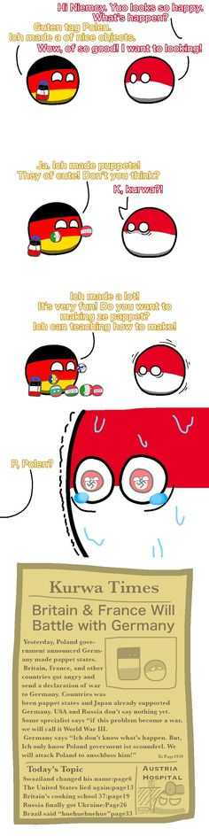 Germany made cute objects (Poland and Germany) Poland Country, Country Art, Funny Images, Funny Pictures, Memes, Short Comics, Fun Comics, Live Long, Funny Cartoons