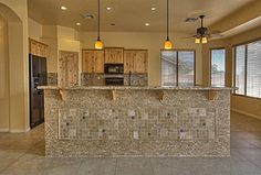 Best Country Sherwin-Williams Renwick Golden Oak Design Ideas and Photos - Zillow Digs Kitchen Bar Decor, Kitchen Island Bar, Kitchen Design, Kitchen Ideas, Bar Tile, Wall Bar, Golden Oak, House Wall, Floor Mirror