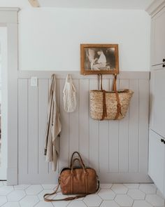 We took a tiny purple mud room and transformed it into a Traditional Farmhouse Laundry and Mudroom over a 38 week period. Mudroom Laundry Room, Small Laundry Rooms, Laundry Room Organization, Family Room Addition, Vestibule, Large Family Rooms, Room Additions, Custom Cabinets, Decoration