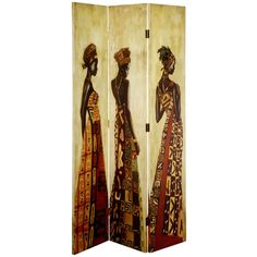 3 Panel Folding Chic African Ladies Screen Room Divider Seporator Privacy Screen | eBay