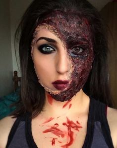 21 Scary Halloween Makeup Ideas | Vampire makeup, Colored contacts ...