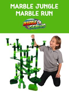 The Marble Jungle Marble Run toy includes 85 translucent pieces in 5 different jungle green colors! A great STEM/STEAM toy for teaching physics concepts as well as color shades and design. Compatible with all Marble Genius marble run toys. Marble Toys, Physics Concepts, Steam Toys, Steam Learning, Math Stem, Super Sets, Inspired Learning, Stem Steam, Child Smile