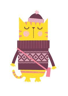 Nursery art girl girls print set hipster cats by BubbleGumYears Love Illustration, Character Illustration, Nursery Prints, Nursery Art, Cat Couch, Hipster Cat, Kids Prints, Cat Prints, Cat Drawing