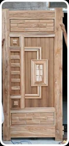 Homemade door design is or your luxury houses, you can choose fancy entrance doors prepared with glass grills or different framing. House Main Door Design, Home Door Design, Wooden Main Door Design, Door Gate Design, Door Design Interior, Foyer Design, Front Door Design, Window Design, House Design