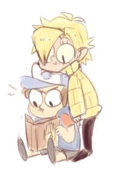 △ Gravity Falls- Bill Cipher and Dipper △