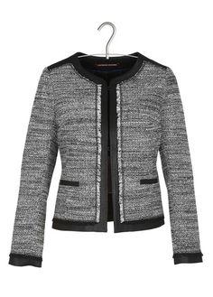 Vestes en tweed sur pinterest tweed et enjoliveurs de veste de chanel - Veste tweed comptoir des cotonniers ...