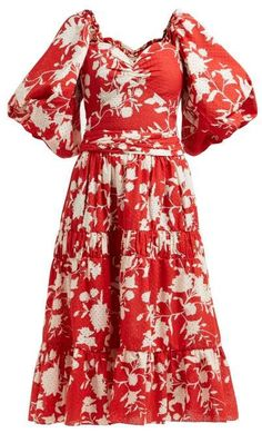 eb1b942c88d Beautiful Chaos tiered floral-print cotton dress