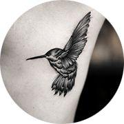 Small Hummingbird Tattoo Design: Rib Cage
