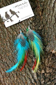 Cute feather earings