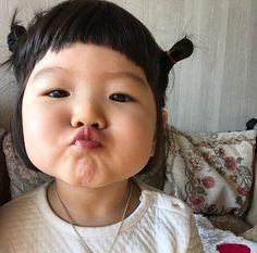 Cute Asian Babies, Asian Kids, Cute Babies, Cute Baby Girl Pictures, Cute Pictures, Cute Toddlers, Cute Kids, Cute Baby Meme, Kissy Face