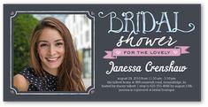 Bridal Shower Invitation: Beautiful Bride,  | Invitations, Square Corners, Grey