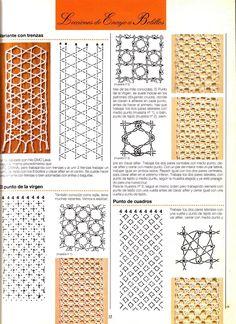 Archivo de álbumes Tunisian Crochet Patterns, Bobbin Lace Patterns, Crochet Stitches, Bobbin Lacemaking, Lace Heart, Lace Jewelry, Lace Doilies, Needle Lace, Lace Making