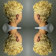 Back Shot Tuesday by khimandi Dope Hairstyles, Cute Hairstyles For Short Hair, Black Women Hairstyles, Pretty Hairstyles, Pixie Styles, Curly Hair Styles, Natural Hair Styles, Short Styles, Short Sassy Hair