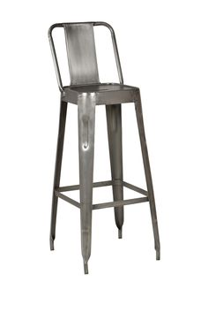 Raw Metal Modern Industrial Bar Stool