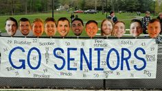 Senior night for lacrosse players!