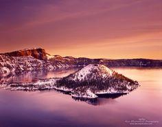 Winter Dawn, Crater Lake by Alan Majchrowicz , via 500px