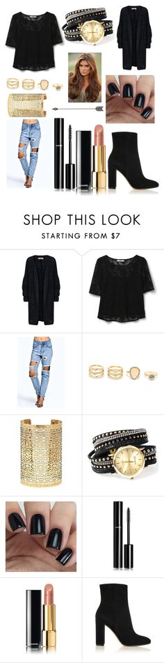 """""""Sans titre #166"""" by revivalxgirls on Polyvore featuring mode, MANGO, Boohoo, LULUS, Forever 21, Chanel et Gianvito Rossi"""