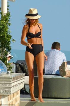 Balearic babe: Millie Mackintosh stands out in bold cut-out bikini during her recent trip to Ibiza Summer Wear, Spring Summer Fashion, Summer Outfits, The Bikini, Black Bikini, Sexy Bikini, Lingerie, Millie Mackintosh, Mein Style