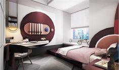 Kids Bedroom Designs, Kids Room Design, Apartment Interior, Room Interior, Interior Design, Contemporary Bedroom Furniture, Living Room Furniture, Futuristic Interior, Minimalist Interior