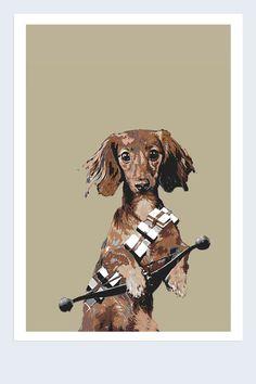 HARSHNESS STAR WARS CHEWBACCA WIENER DOG
