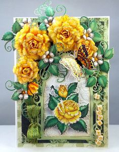 Magic....... resides within, Heartfelt Creations, Card with flowers