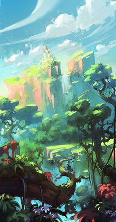 Superb Landscape Art To Keep The Outdoors With You At All Ti.- Superb Landscape Art To Keep The Outdoors With You At All Times – Bored Art landscape art 18 - Concept Art Landscape, Fantasy Concept Art, Fantasy Landscape, Landscape Art, Fantasy Art, Game Concept Art, Environment Concept, Environment Design, Environment Painting