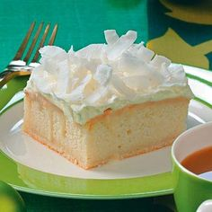 Coconut Cream Yummy Cake Recipe from Taste of Home -- shared by Angela Renae Fox of Gober, Texas