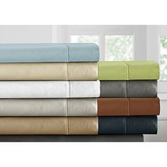 Shop for Luxury Sateen Cotton Blend 1000 Thread Count Deep Pocket Sheet Set. Get free shipping at Overstock.com - Your Online Sheets