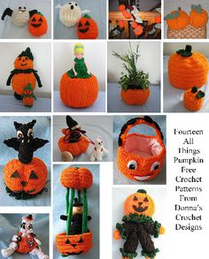 14 Free Pumpkin Inspired Crochet Patterns