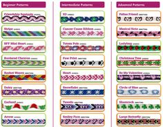mommy bytes: Friendship Bracelets Made Easy The Effective Pictures We Offer You About Friendship Bracelet for boys A quality picture can tell you many things. You can find the most beautiful pictures Diy Friendship Bracelets Tutorial, Friendship Bracelets Designs, Bracelet Tutorial, Bracelet Designs, Anklet Designs, Embroidery Floss Bracelets, Thread Bracelets, Macrame Bracelets, Hemp Bracelet Patterns