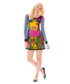 Betsey Johnson Modern Art Sweater Trapeze dress... I want this so bad I have no words.