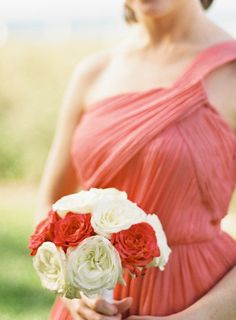 Coral is a great colour for tropical weddings.