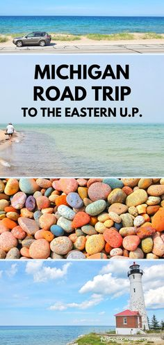 michigan road trip to upper peninsula, up, great lakes. best places to visit in the midwest. us outdoor travel destinations. vacation spots, ideas, places in the US. michigan things to do upper peninsula up north. US outdoor vacation road trip midwest from wisconsin, chicago, minnesota, illinois, indiana, ohio Michigan Vacations, Michigan Travel, Midwest Vacations, Vacation Places, Vacation Spots, Vacation Ideas, Beach Fun, Beach Trip, Us Travel Destinations