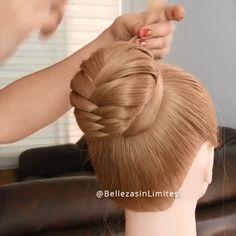 Bun Hairstyles For Long Hair, Short Hair Updo, Scarf Hairstyles, Braided Hairstyles, Amazing Hairstyles, Hair Up Styles, Medium Hair Styles, Hair Tutorials For Medium Hair, Hair Videos