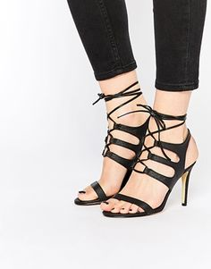 Buy Women Shoes / Warehouse Leather Colourblock Heeled Sandals