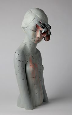 Gosia // Decay ceramic & paint | 9 x 10 x 22"