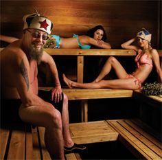 Russian nude banya girls