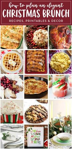 Planning a beautiful Christmas breakfast celebration? Our Epic Christmas Brunch Meal Plan will help you plan the best meal ever! Christmas Brunch Menu, Christmas Breakfast, Christmas Desserts, Christmas Appetizers, Christmas Eve, Christmas Ideas, Christmas Foods, Christmas Parties, Christmas Menus