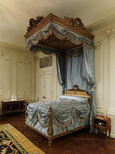 The Metropolitan Museum of Art, the Wrightsman Galleries: Boiserie from the Hotel Lauzun. Like the draping fabric