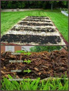 "deep mulch gardening, from lawn to garden: the ""deep mulch"" or ""back to eden"" method, Design ideen"