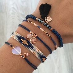 Bracelet Set 'Royal Blue' with rosegold | Mint | www.mint15.com