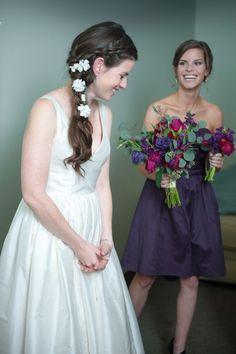 Urban Bohemian Wedding - Plum - Purple - Bridal Attire - Wedding Gown
